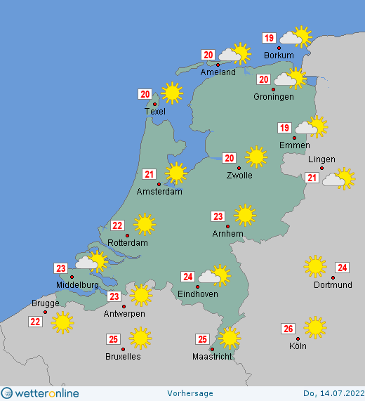 wettervorhersage 14 tage niederlande