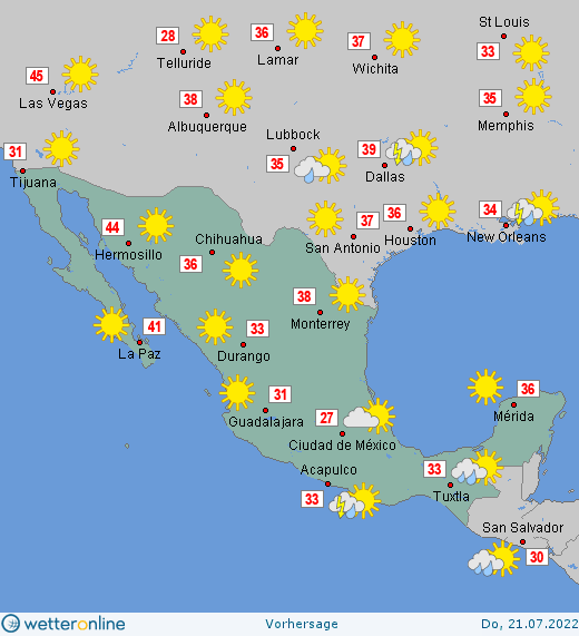 Mexiko Wetter
